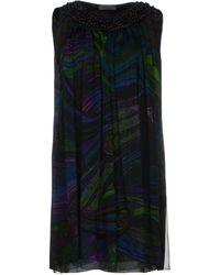 Alberta Ferretti Short Dress - Lyst