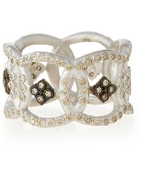 Armenta - New World Open Circle Diamond Band Ring - Lyst