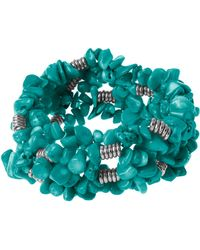 Kenneth Cole Turquoise Chip Stretch Bracelet - Lyst