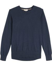Burberry Brit - Jarvis Cashmere-cotton Long Sleeve Shirt - Blue - Lyst