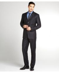 Dolce & Gabbana Navy Stripe Virgin Wool 3 Button Suit With Flat Front Pants - Lyst