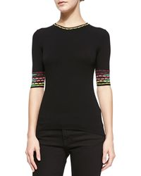 M Missoni Pebble Striped Half-sleeve Tee - Lyst