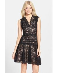 Nicole Miller Lace Dress In Gray Grey Lyst