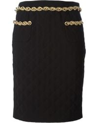 Moschino Quilted Pencil Skirt - Lyst