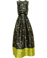 Erdem Mildred Floral-Jacquard Gown - Lyst