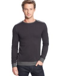 Calvin Klein Colorblocked Double-knit Jacquard Sweatshirt - Lyst