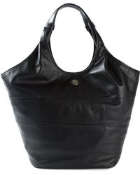 Tory Burch Logo-Detail Leather Hobo - Lyst