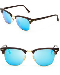 Ray-Ban Mirrored Clubmaster Sunglasses - Lyst