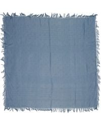 Etro Gray Square Scarf - Lyst