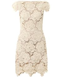 Lover 3d Star Lace Dress - Lyst