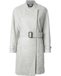 Burberry Belted Coat - Lyst