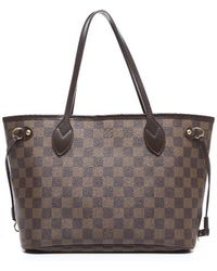 Louis Vuitton | Pre-owned Damier Ebene Neverfull Pm Bag | Lyst