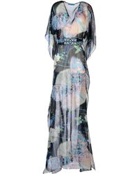 Matthew Williamson Blue Long Dress - Lyst
