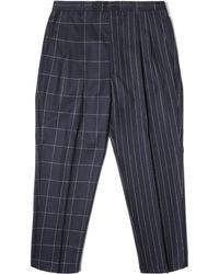 LC23 - Gessato/quadro Trousers - Lyst