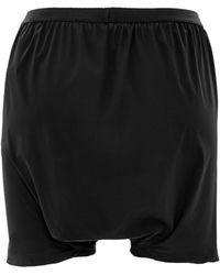 Rick Owens Bud Shorts in Black Bistretch - Lyst