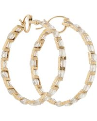 Nak Armstrong Rainbow Moonstone  Gold Hoops - Lyst