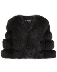 Harrods of London Fox Cropped Cape - Lyst