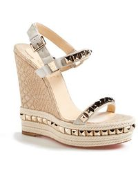 louboutin rollerboy spikes black - christian louboutin cataclou studded leather espadrille wedges