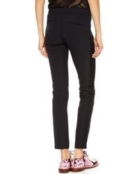 Rebecca Taylor Ava Techy Pants  Black - Lyst