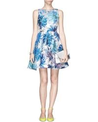 Alice + Olivia Foss Lurex Floral Brocade Fitandflare Dress - Lyst