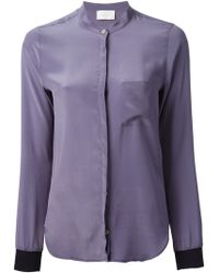 Forte Forte Band Collar Blouse - Lyst