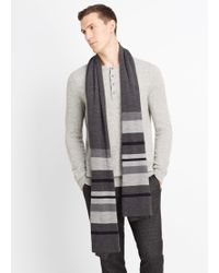 Vince - Wool Striped Blanket Scarf - Lyst