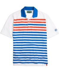Brooks Brothers St Andrews Links Blocked Stripe Pique Polo - Lyst