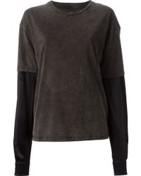 Filles A Papa 'Mady' T-Shirt With Contrast Sleeves - Lyst