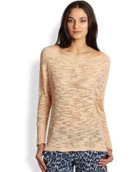 Alice + Olivia Slub Slouchy Pullover Sweater - Lyst