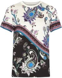 Mary Katrantzou Iven Printed Jersey T-Shirt white - Lyst