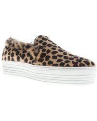 Joshua Sanders Leopard Print Slip On Sneakers - Lyst