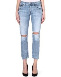 Citizens Of Humanity Emerson Boyfriend Mid Rise Cropped Jeans Quiet Riot - Lyst