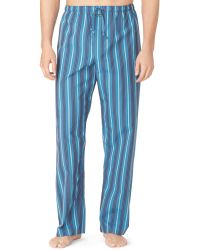 Calvin Klein Mens Striped Pajama Pants - Lyst