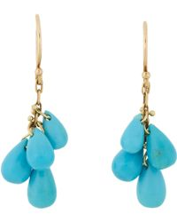 Ten Thousand Things - Turquoise & Gold Drop Earrings - Lyst