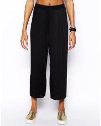 Monki Wide Leg Pleated Pant - Lyst