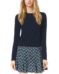 Michael Kors Cropped Cashmere Sweater - Lyst