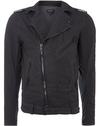 Diesel Belted Cotton Biker Jacket - Lyst