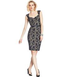 ABS By Allen Schwartz Katherine Lace Sheath Dress - Lyst