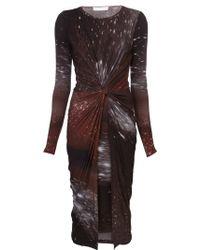 Donna Karan New York Draped Knot Dress - Lyst