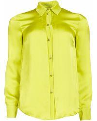 Matthew Williamson Spring Silk Pleat Front Shirt - Lyst