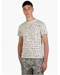 Christopher Raeburn Men'S Grey Aircraft Recognition Printed T-Shirt Men'S Grey Aircraft Recognition Printed T-Shirt - Lyst