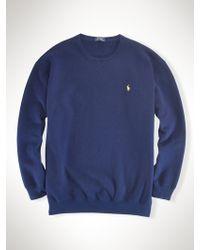 Polo Ralph Lauren Fleece Crewneck Sweatshirt - Lyst