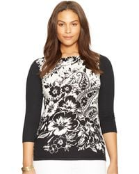 Lauren by Ralph Lauren Plus Size Paisley-print Sweater - Lyst