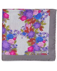 Edward Armah - Watercolor-floral Silk Pocket Square - Lyst