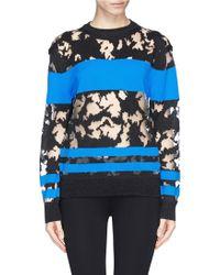 Alexander Wang Contrast Stripe Mesh Burnout Sweater - Lyst