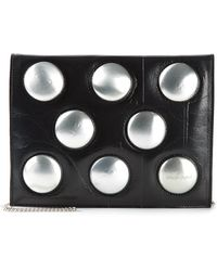 Carmina Campus - Stud-Embellished Leather Cross-Body Bag - Lyst