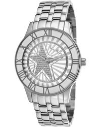 Thierry Mugler Women'S Silver-Tone Stainless Steel White Dial - Lyst