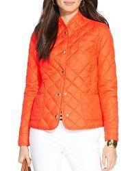 Ralph Lauren Lauren Diamond Quilt Jacket - Lyst