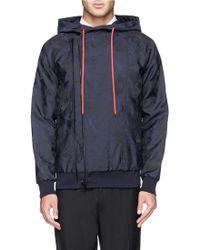 Alexander McQueen Skull Camouflage Hood Jacket blue - Lyst
