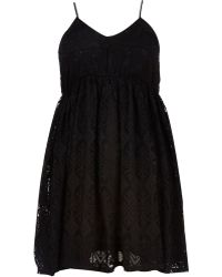 River Island Black Chelsea Girl Lace Babydoll Dress - Lyst